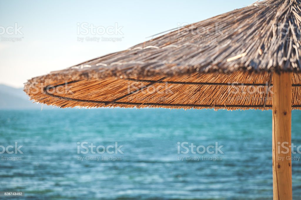 Beach Parasol detail stock photo