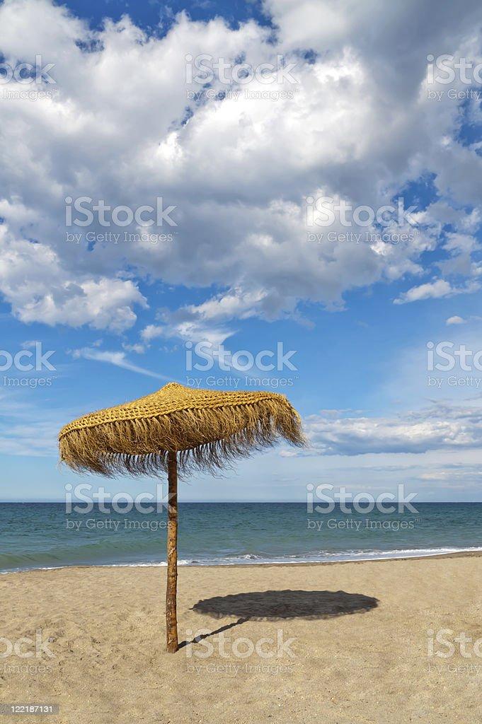 Beach Parasol stock photo
