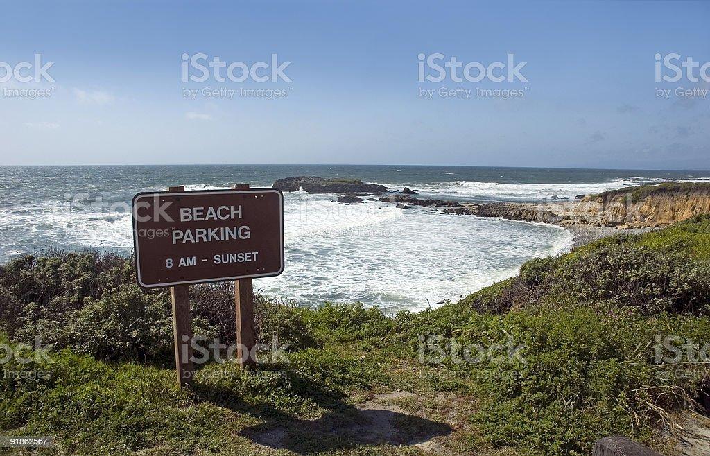 Spiaggia di parcheggio foto stock royalty-free
