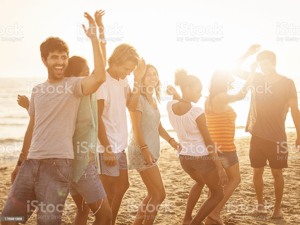 Beach party on summer stock photo
