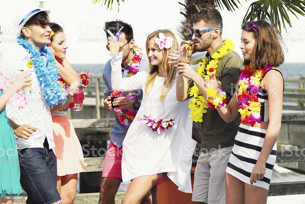 Beach party royalty-free stock photo