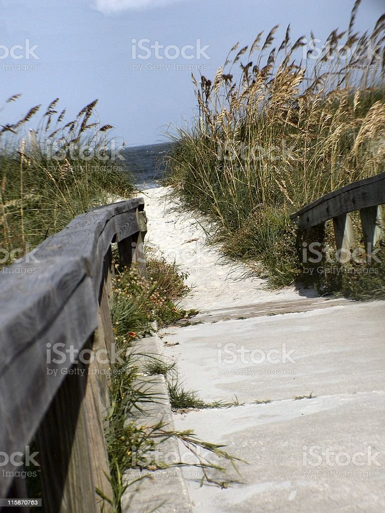 Beach path 2 royalty-free stock photo