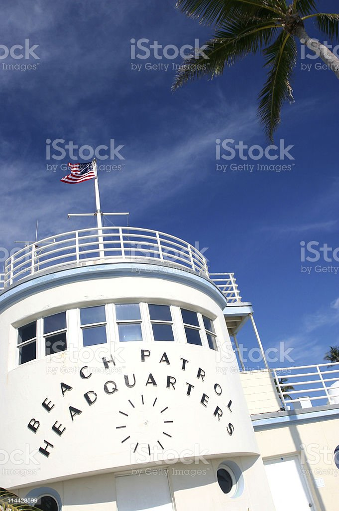 Beach Patrol royalty-free stock photo