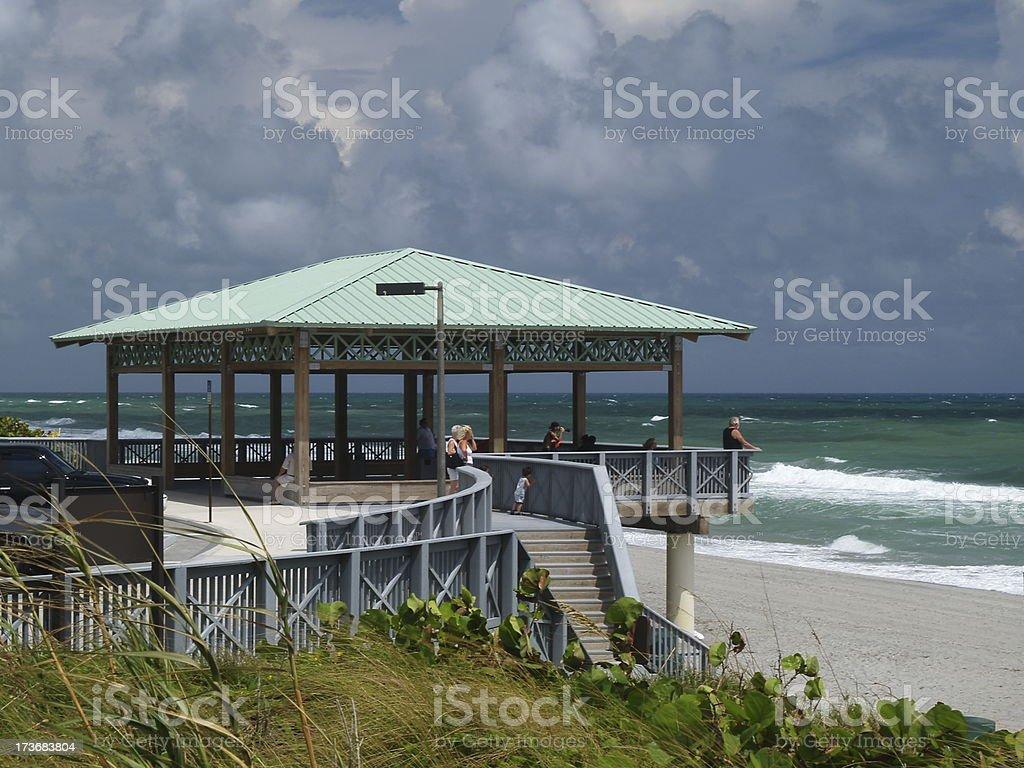 Beach Pavilion #2 royalty-free stock photo