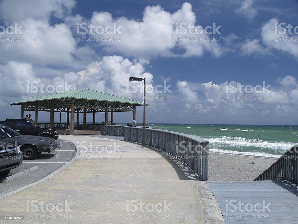 Beach Pavilion stock photo