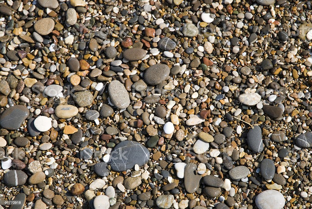 Praia de seixos foto royalty-free