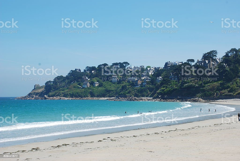 Perros Guirec, beach stock photo
