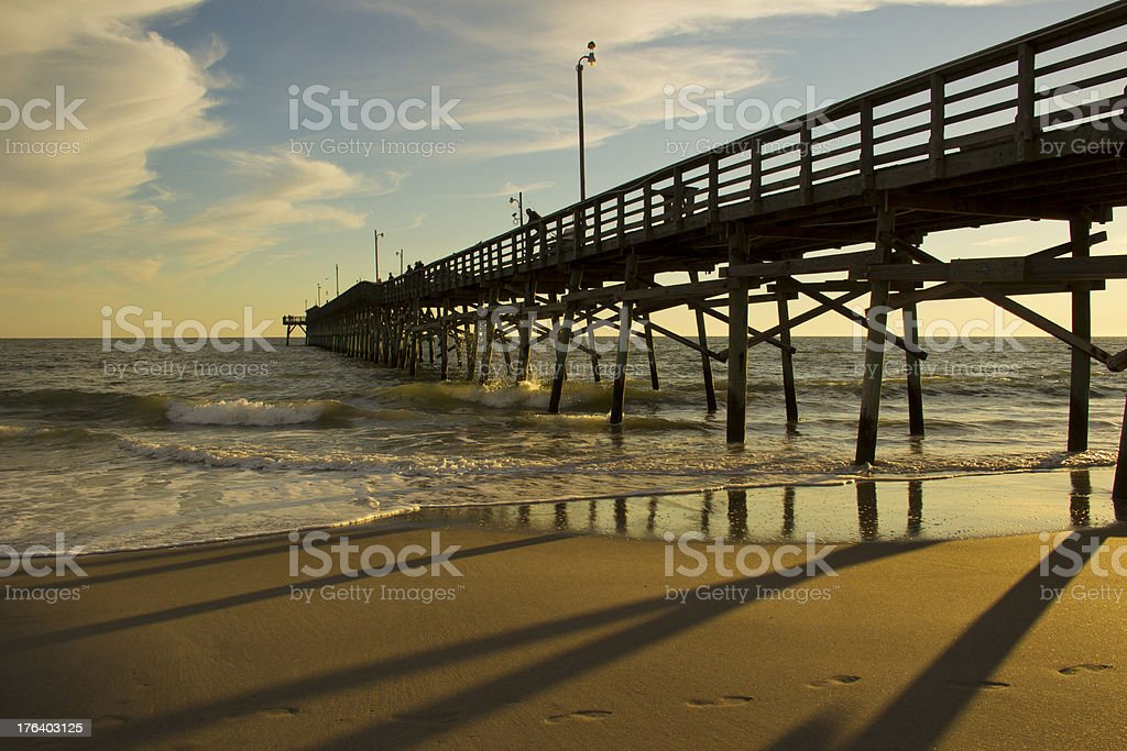 Beach Pier over the Ocean Late Afternoon royalty-free stock photo