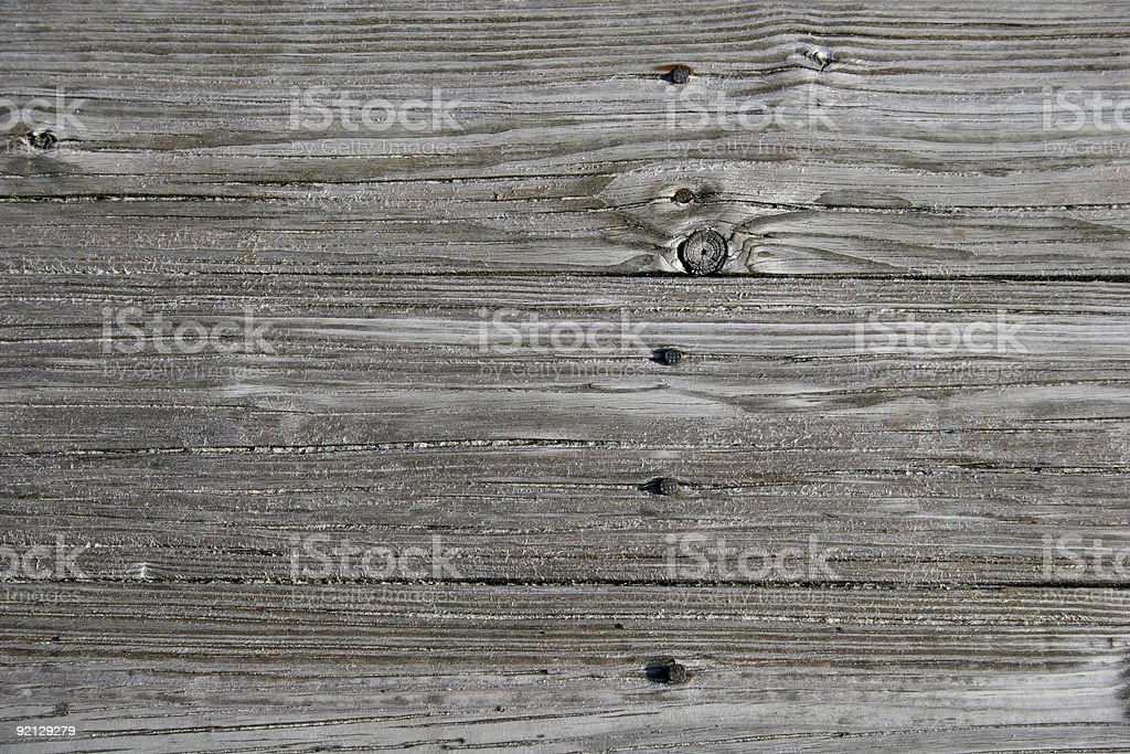 Beach Planks royalty-free stock photo