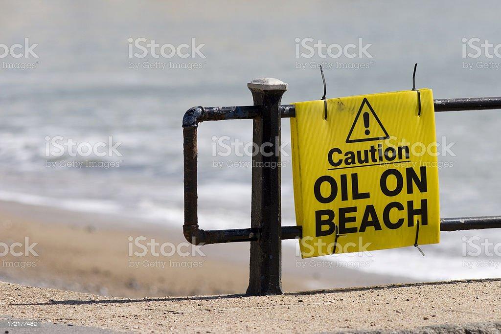 Beach Pollution royalty-free stock photo
