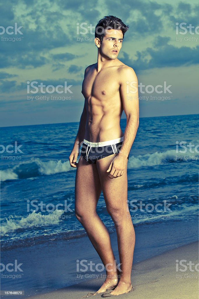 Beach portrait at dusk royalty-free stock photo