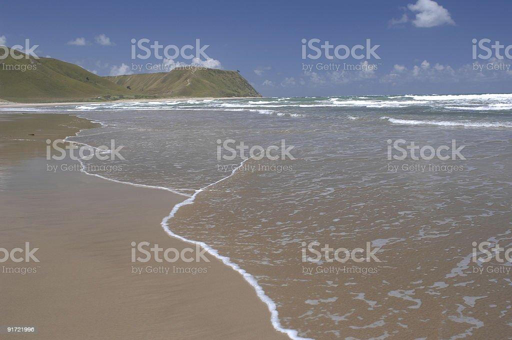 Beach, Pouawa, Gisborne, New Zealand stock photo