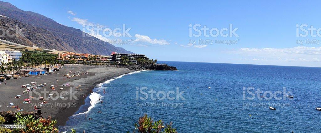 Beach Puerto Naos, La Palma, Canary Islands stock photo