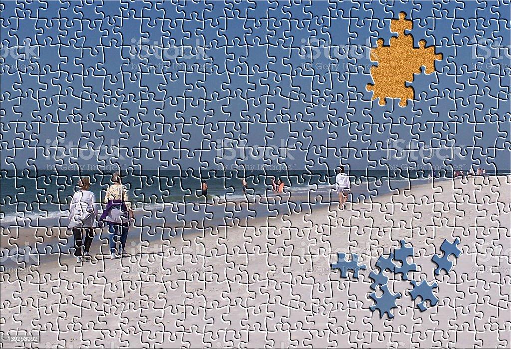 Beach  Puzzle stock photo