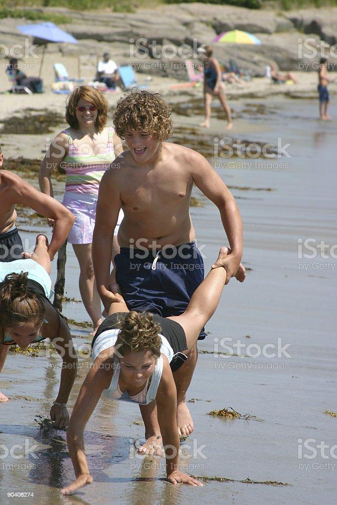 beach races stock photo