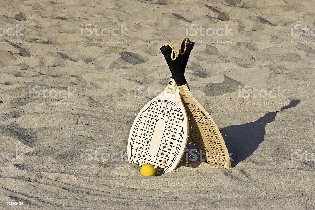 Beach rackets royalty-free stock photo