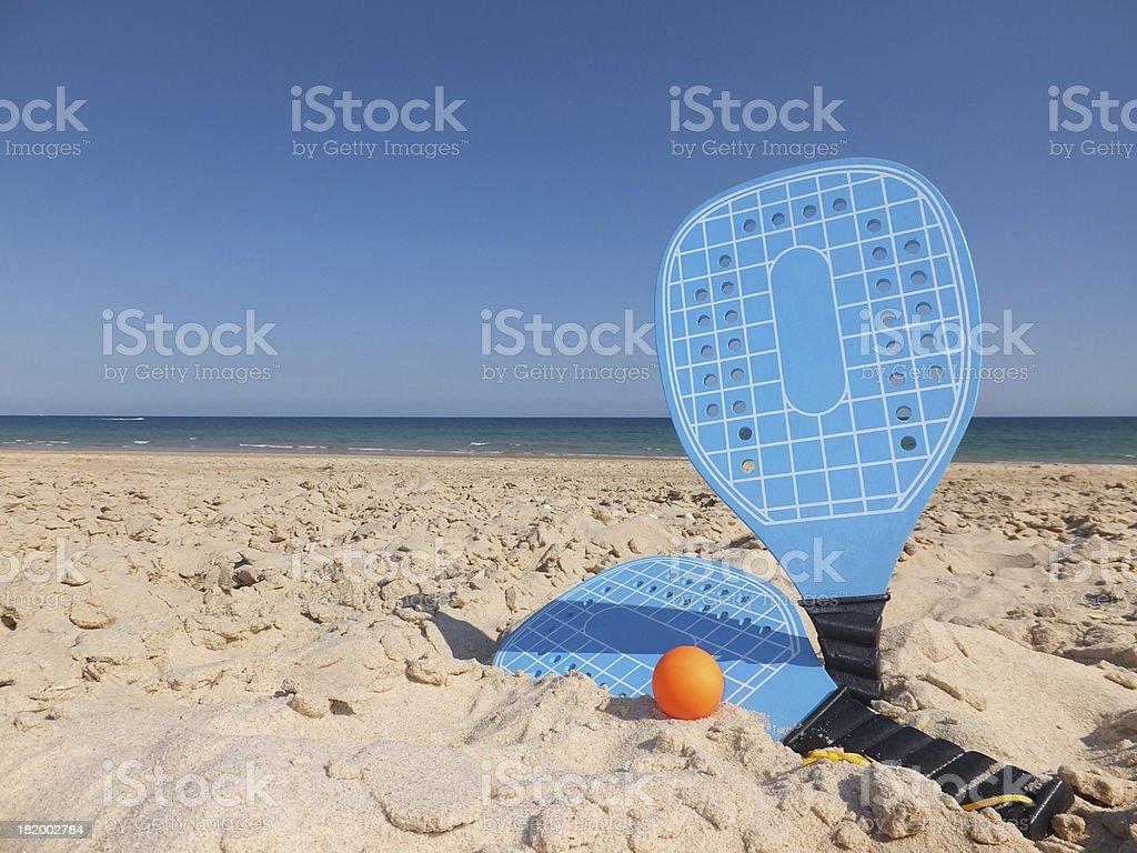 Beach Rackets royalty-free stock photo