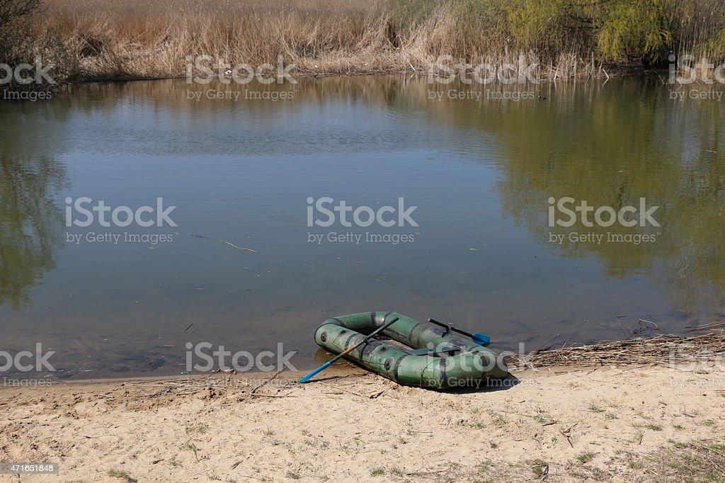 Beach Raft stock photo