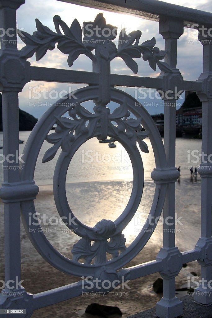 Barandilla playa zbiór zdjęć royalty-free