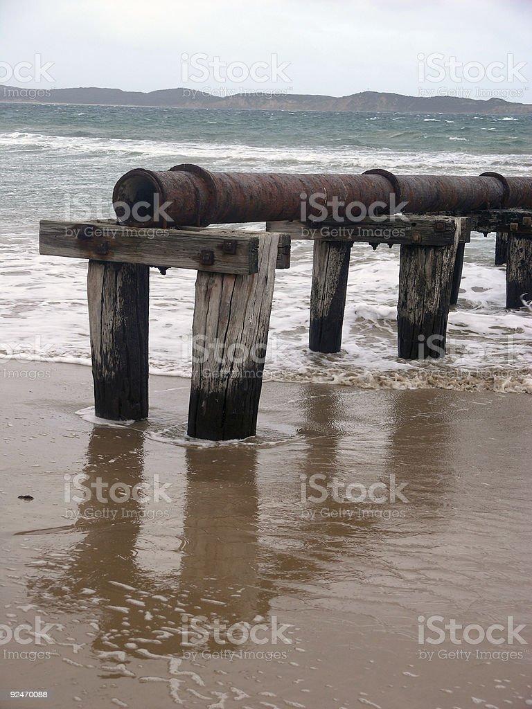Beach Reflections 2 royalty-free stock photo