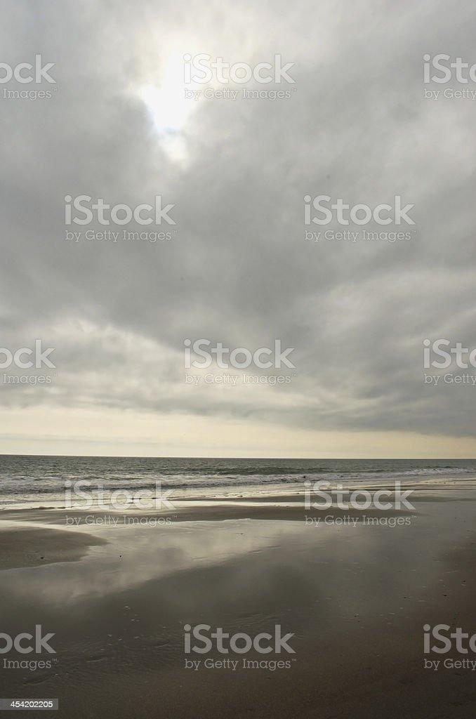 Beach Reflections stock photo