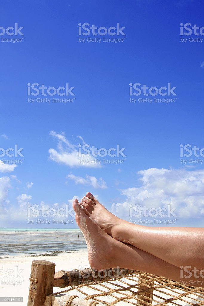 Beach Relax royalty-free stock photo
