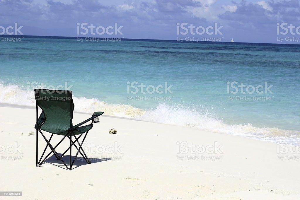 Beach Relaxing 2 stock photo