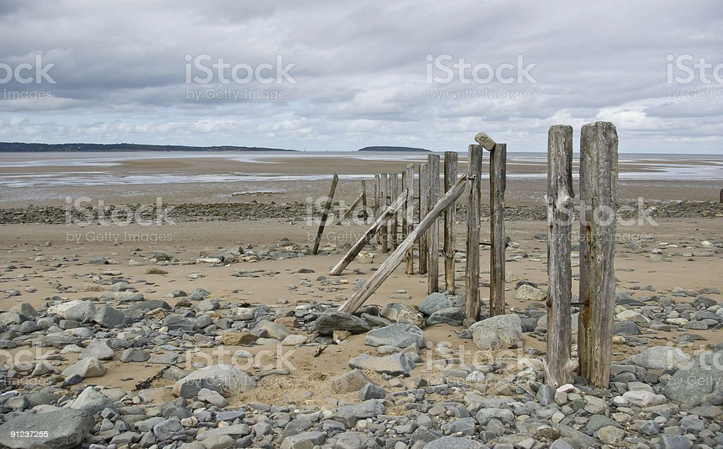 Beach Remains royalty-free stock photo