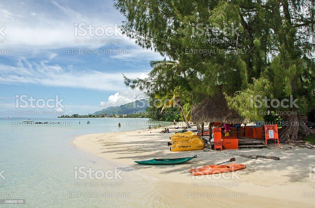Beach Rentals and Calm Lagoon royalty-free stock photo