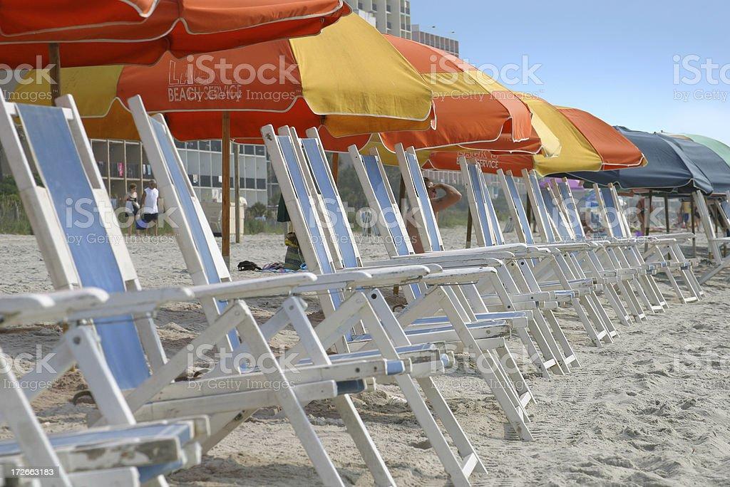 Beach Resort Chairs royalty-free stock photo