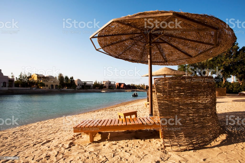 Beach resort Egypt stock photo