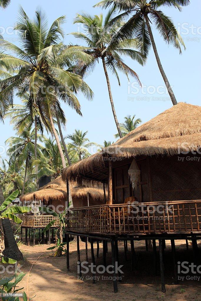Beach resort in Goa royalty-free stock photo
