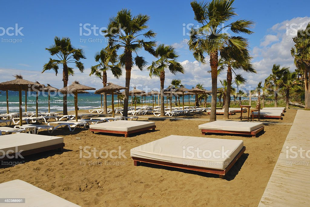 Beach resort located in Marbella (Spain) stock photo