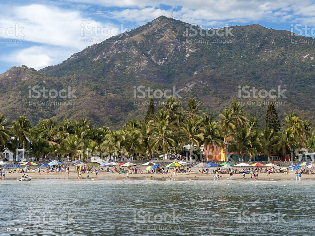 Beach Resort, Mexico stock photo