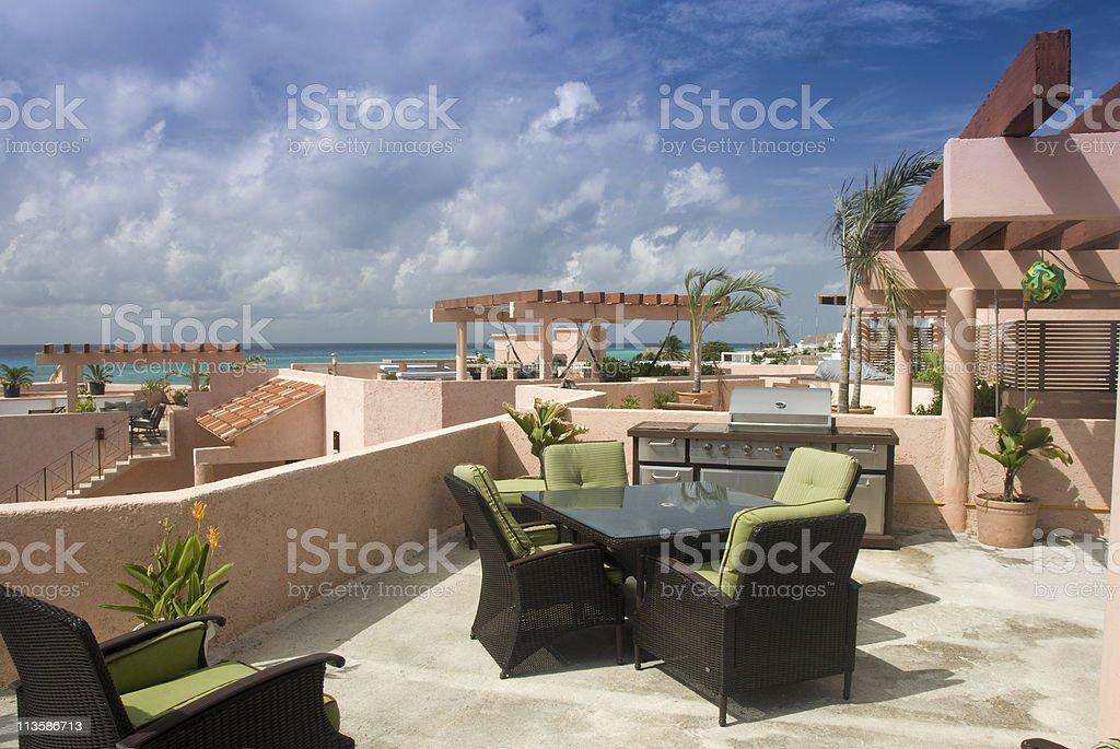 Beach Resort stock photo
