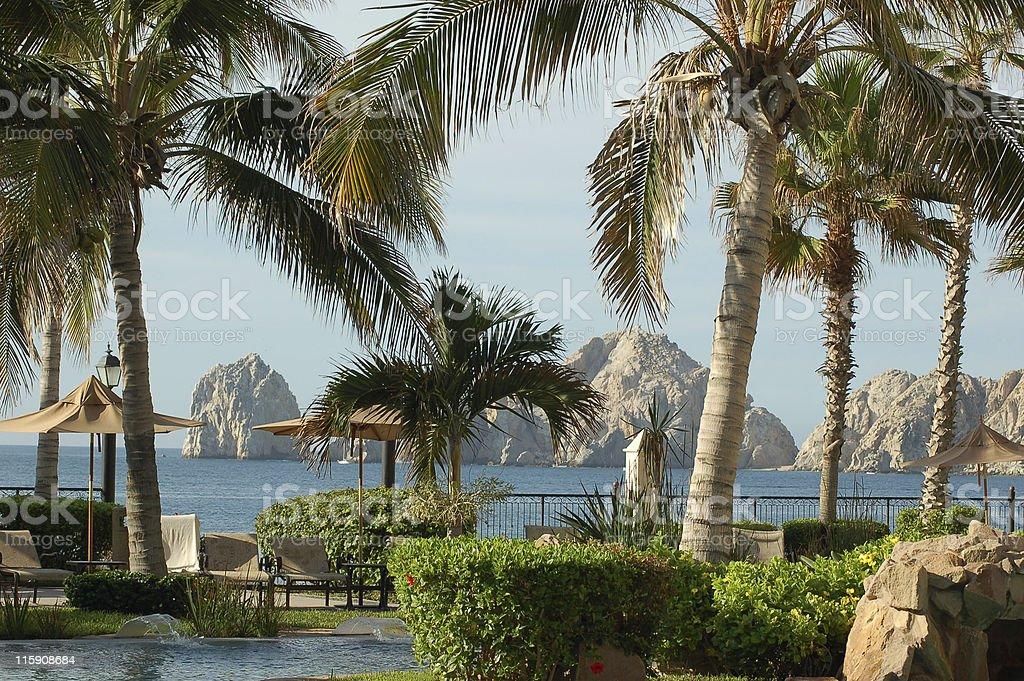 Beach resort royalty-free stock photo