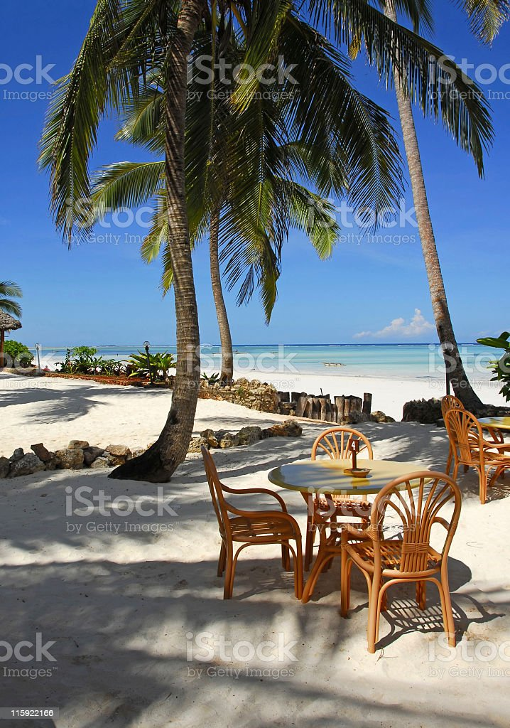 Beach restaurant royalty-free stock photo