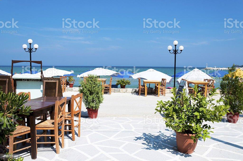 Beach restaurant royalty-free stock photo