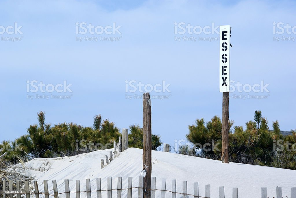 Beach Road Sign stock photo