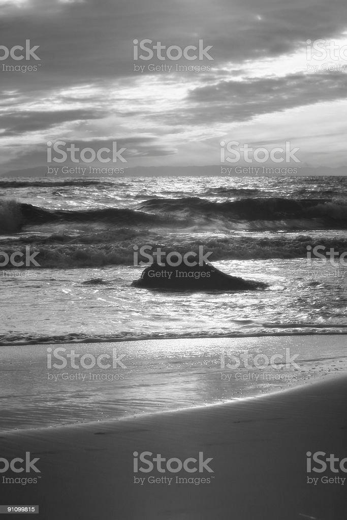 Beach Rock Landscape IR royalty-free stock photo