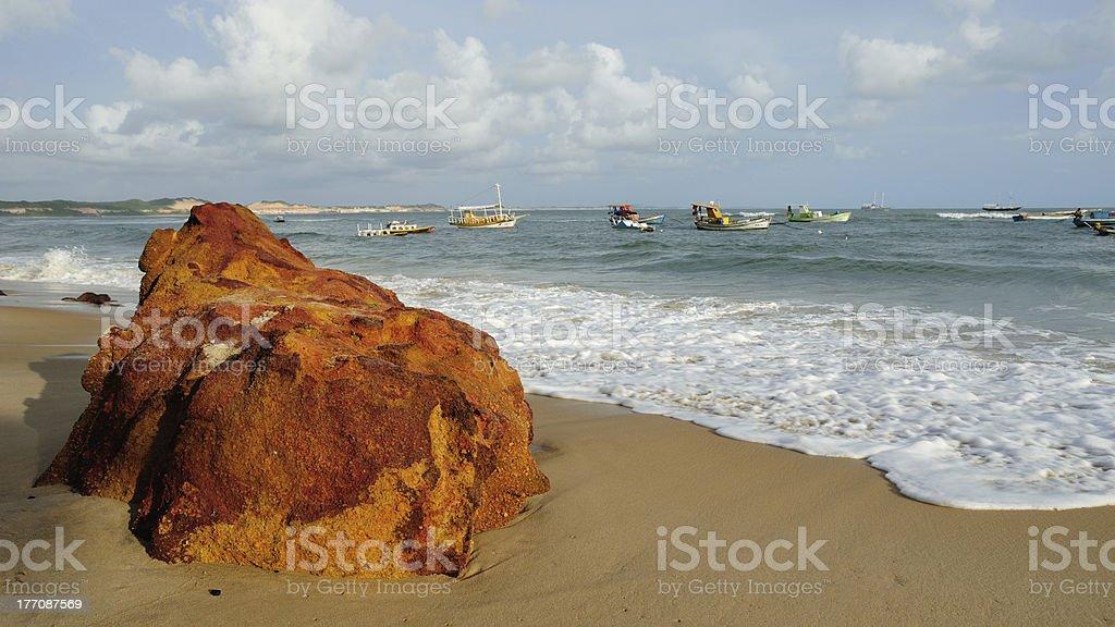 beach rock stock photo