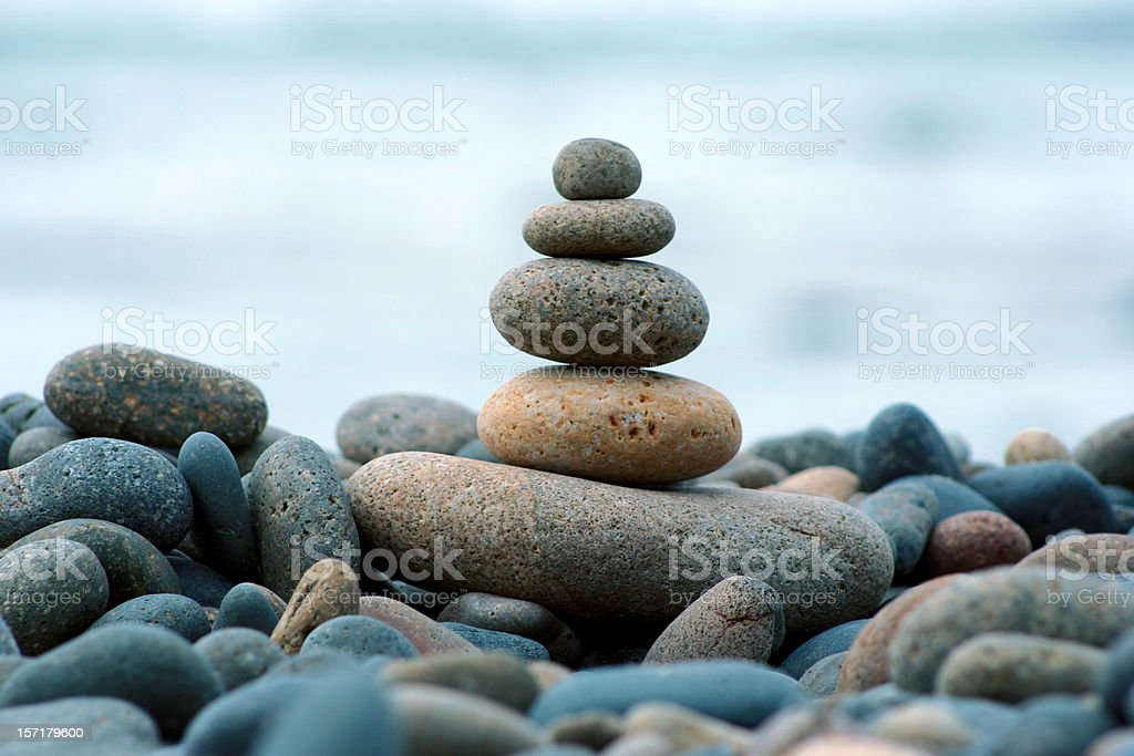 Beach Rocks, Stacked royalty-free stock photo
