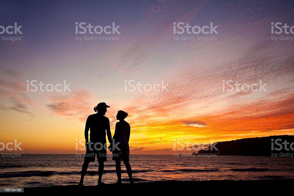 Beach Romance royalty-free stock photo
