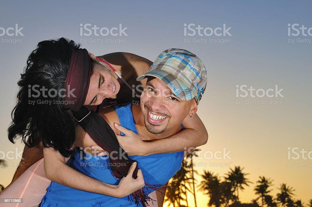 Beach romance stock photo