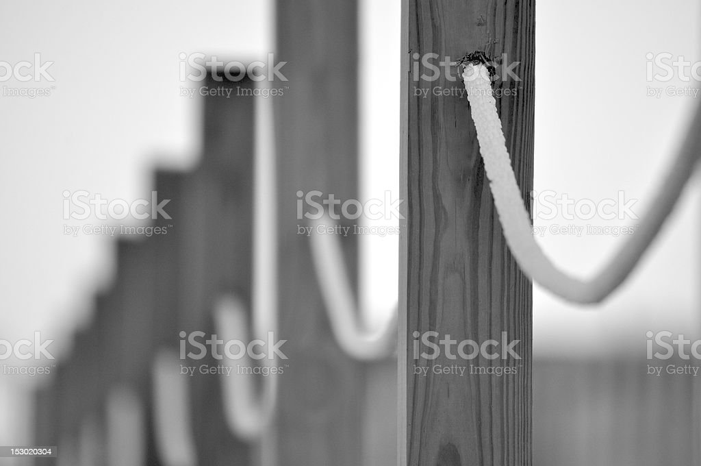 Beach Rope Fence royalty-free stock photo