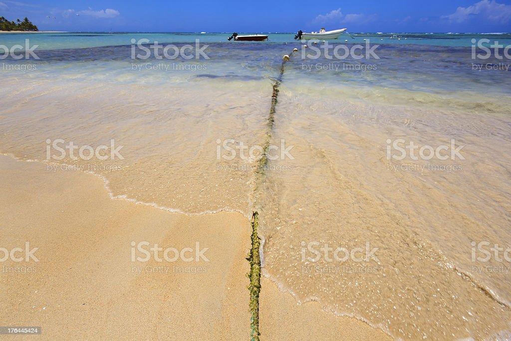 Beach Rope royalty-free stock photo