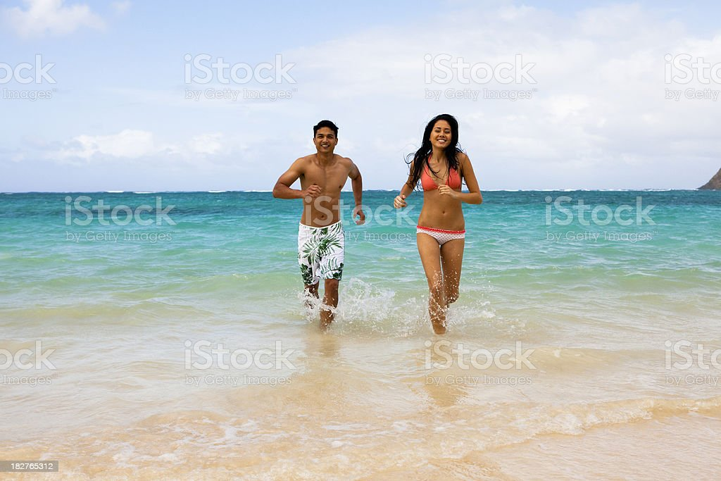Beach Run royalty-free stock photo