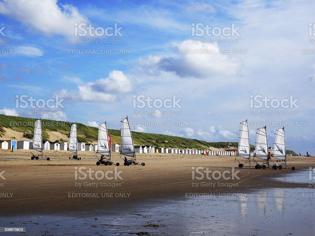 Beach Sailing stock photo
