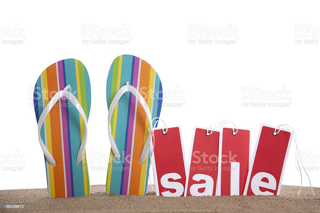 Beach Sale Event royalty-free stock photo