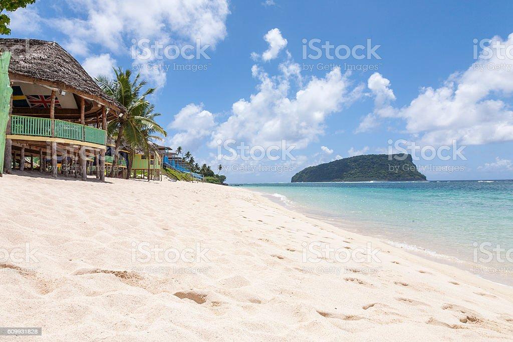 Beach Samoa stock photo